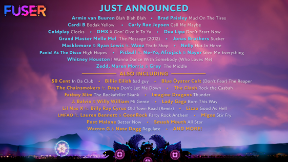 Fuser 15 new Songs