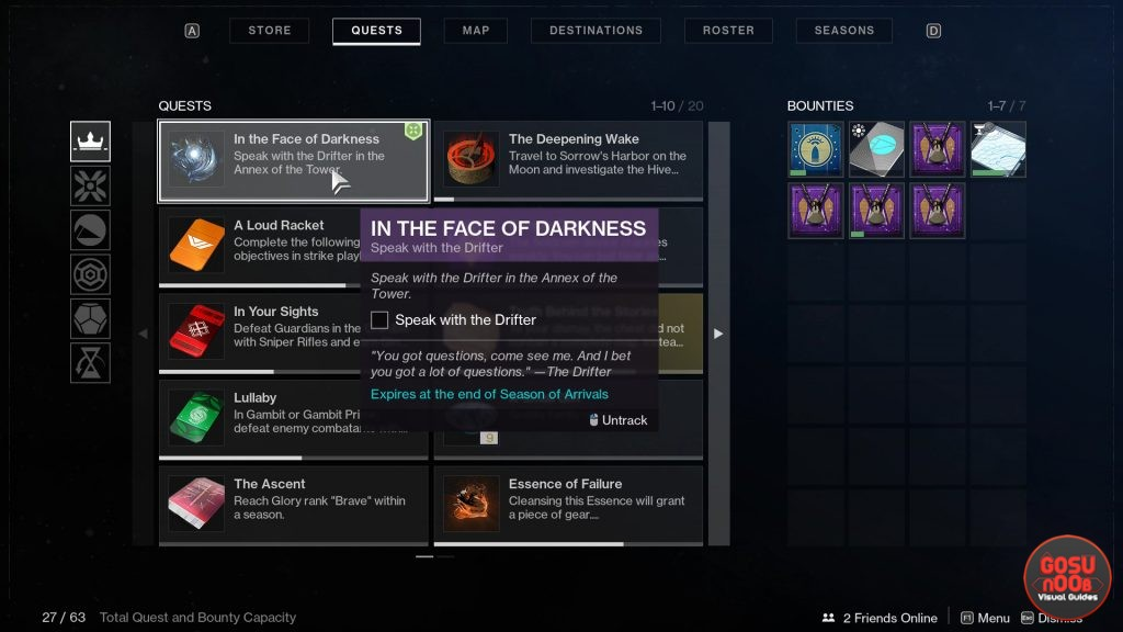 In the Face of Darkness Destiny 2 - Quest Progression Bugged