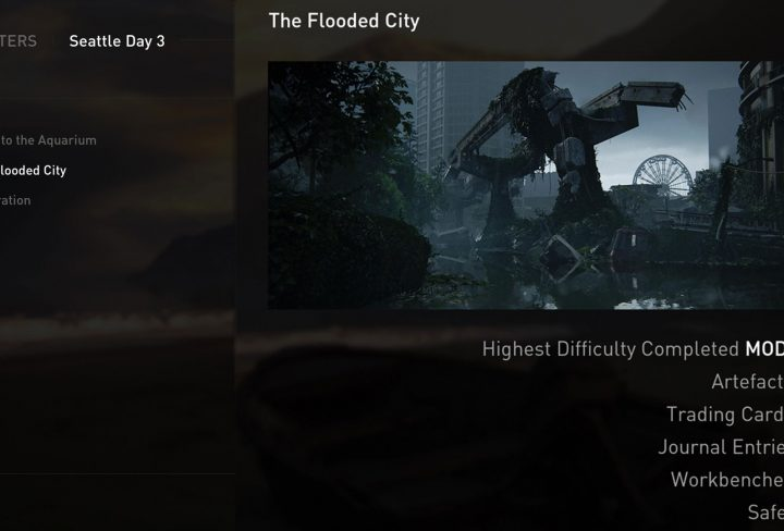 TLOU2 Flooded City Collectibles Safe Artifact Trading Card Journal Workbench Locations
