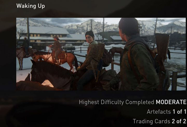The Last of Us 2 Waking up and Overlook collectibles Artifact Trading Card locations guide