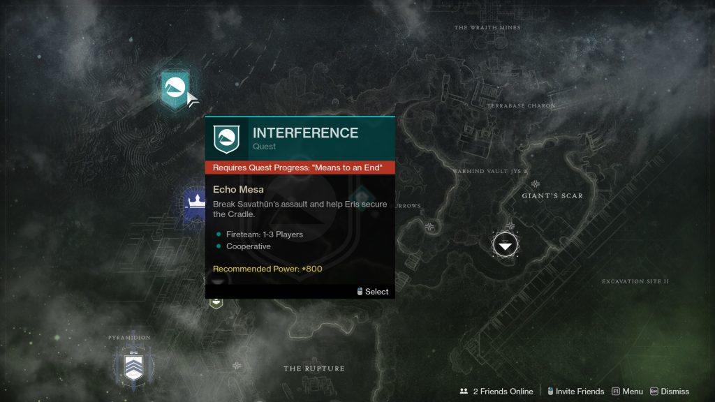 destiny 2 means to an end interference quest bug