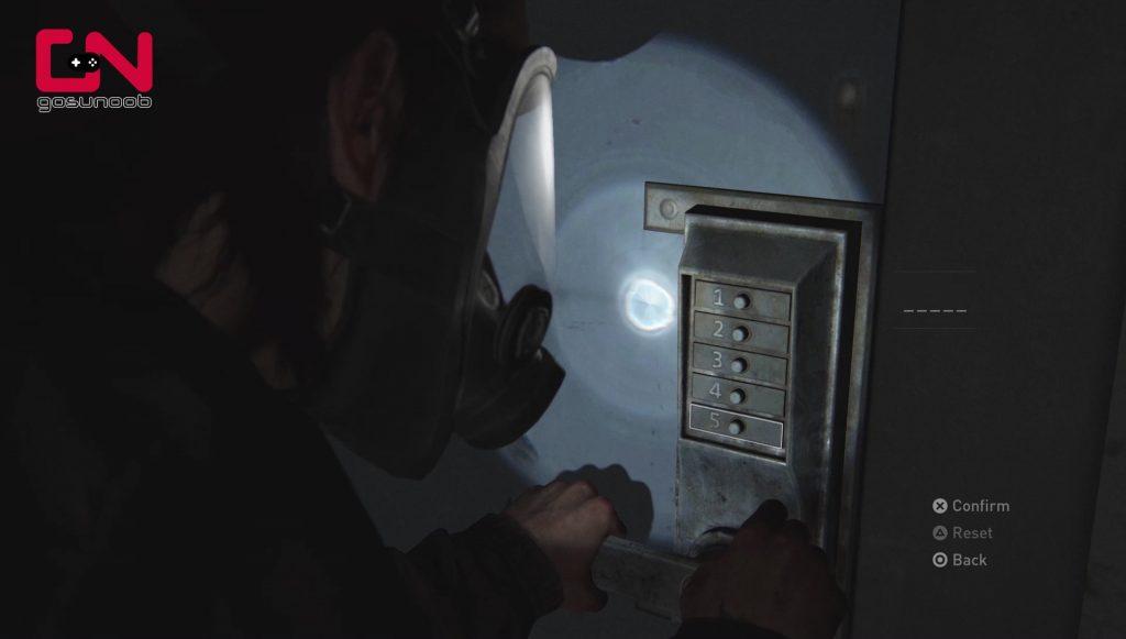 tlou2 tunnels keypad code locked door