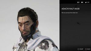 adachi half mask ghost of tsushima