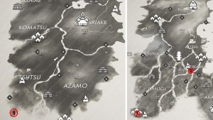 All Kenji Tale Locations Map Ghost of Tsushima