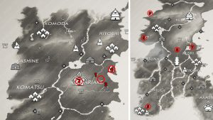 All Masako Tale Map Locations Ghost of Tsushima