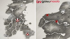 All Norio Tale Locations Map Ghost of Tsushima