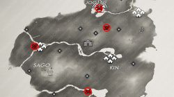 All Side Tale Locations Kamiagata Map Ghost of Tsushima