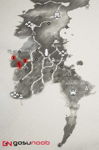 All Yuna Tale Locations Map Ghost of Tsushima