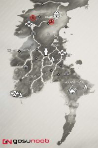 All Yuriko Tale Locations Map Ghost of Tsushima