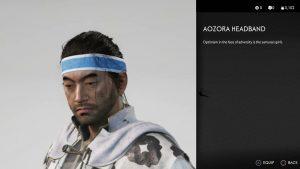 Aozora Headband Ghost of Tsushima