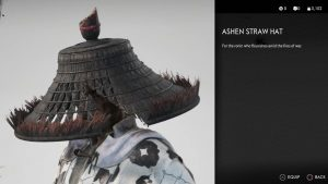 Ashen Straw Hat Ghost of Tsushima