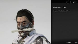 avenging lord mask ghost of tsushima