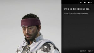 Band of the Second Son Helmet Ghost of Tsushima