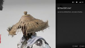 Betrayer's Hat Ghost of Tsushima