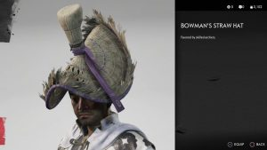 Bowman's Straw Hat Helmet Ghost of Tsushima