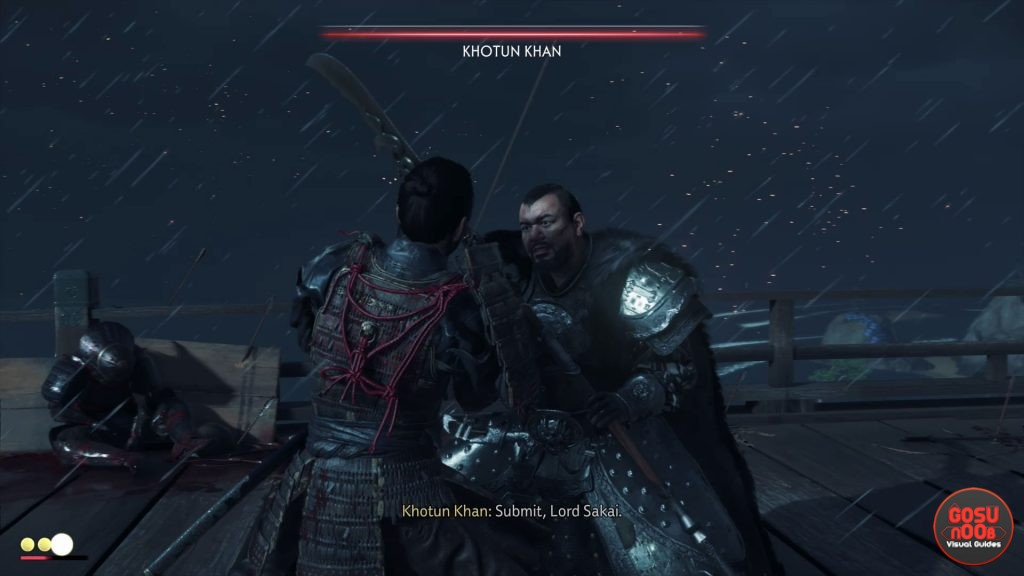 can you defeat khotun khan at the start in ghost of tsushima