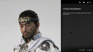 Chaos Headband Ghost of Tsushima