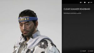 Clear Summer Headband Ghost of Tsushima