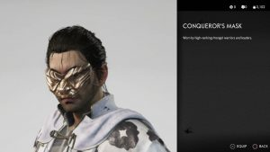 conqueror's mask ghost of tsushima