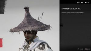 Farmer's Straw Hat Helmet Ghost of Tsushima