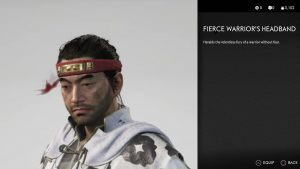 Fierce Warrior's Headband Ghost of Tsushima