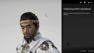 Forgemaster's Headband Ghost of Tsushima