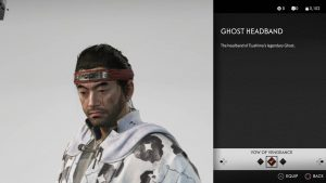 Ghost Headband Helmet Ghost of Tsushima