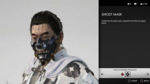 ghost mask ghost of tsushima