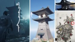 Ghost of Tsushima Temple and Lighthouse Grapple Hook Climbs