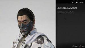 glowering warrior mask ghost of tsushima