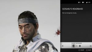 Gosaku;s Headband Ghost of Tsushima