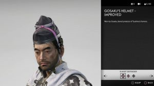Gosaku's Helmet Improved Ghost of Tsushima