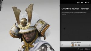 Gosaku's Helmet Refined Ghost of Tsushima