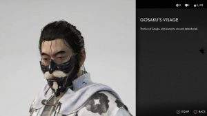 gosaku's visage mask ghost of tsushima