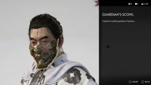 guardian's scowl ghost of tsushima