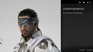 Gyozen's Blindfold Helmet Ghost of Tsushima