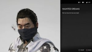 haunted dreams mask ghost of tsushima