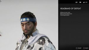 Headband of Defeat Helmet Ghost of Tsushima