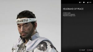 Headband of Peace Ghost of Tsushima