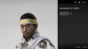 Headband of Strife Helmet Ghost of Tsushima