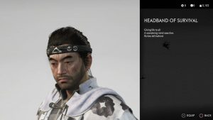 Headband of Survival Ghost of Tsushima