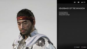 Headband of The Invasion Ghost of Tsushima