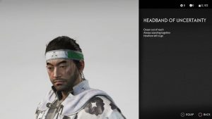 Headband of Uncertainty Helmet Ghost of Tsushima