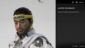 Hinode Headband Ghost of Tsushima