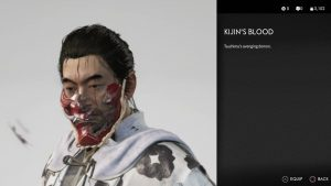 kijin's blood mask ghost of tsushima