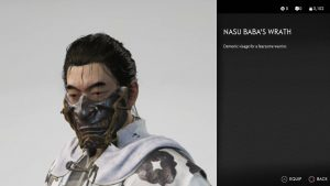 nasu baba's wrath mask ghost of tsushima