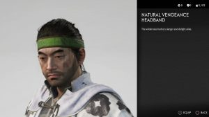 Natural Vengeance Headband Ghost of Tsushima