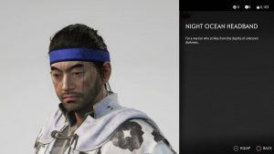 Night Ocean Headband Ghost of Tsushima