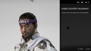 Noble Fighter's Headband Ghost of Tsushima