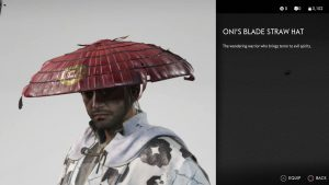 Oni's Blade Straw Hat Ghost of Tsushima